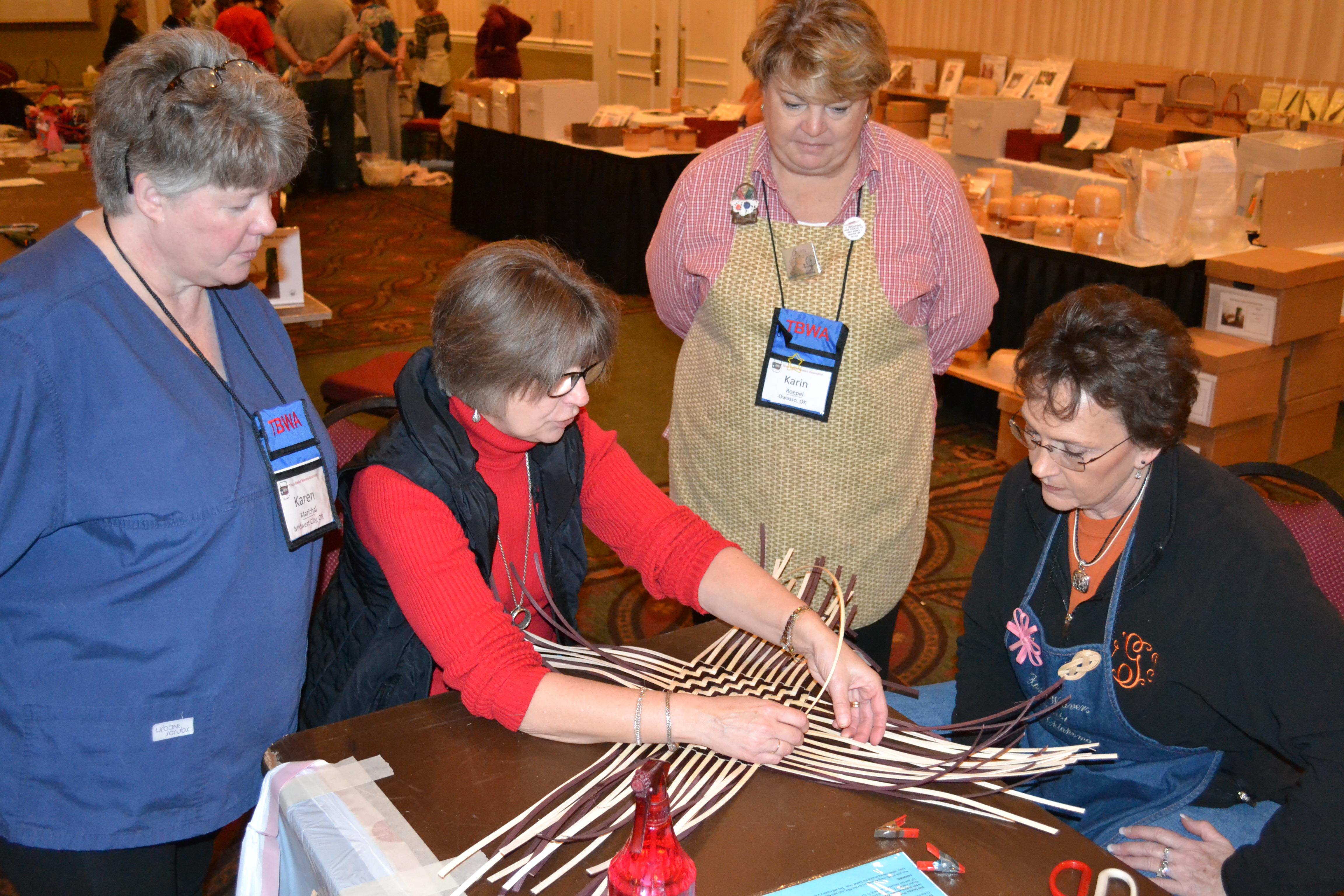 Basket weaving association : Kickin it up in dallas prairiewood basketry